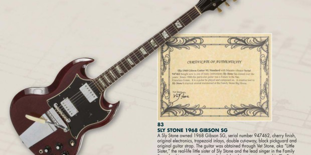 juliensauctions 18 mai sly stone Gibson 68 SG